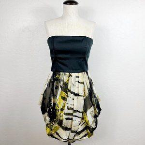 Alice + Olivia Silk Strapless Strappy Mini Dress